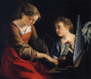 Orazio_Gentileschi_-_Saint_Cecilia_with_an_Angel-300x261