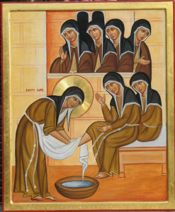 Clare-washing-the-feet-of-the-nuns-247x300